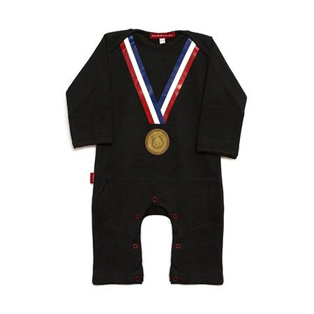 Oh Baby London Black Olympic Medal Playsuit