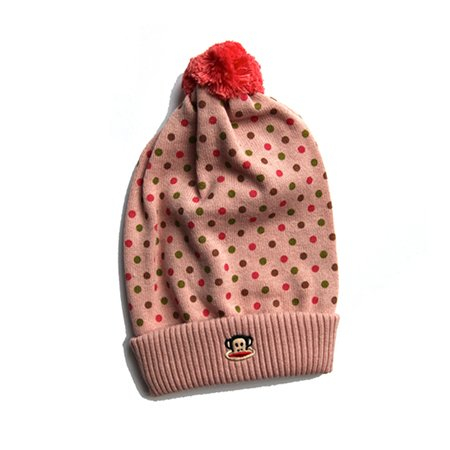 Paul Frank Pink Spotty Bobble Hat