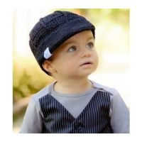 Rugged Butts Black Crochet Baby Hat