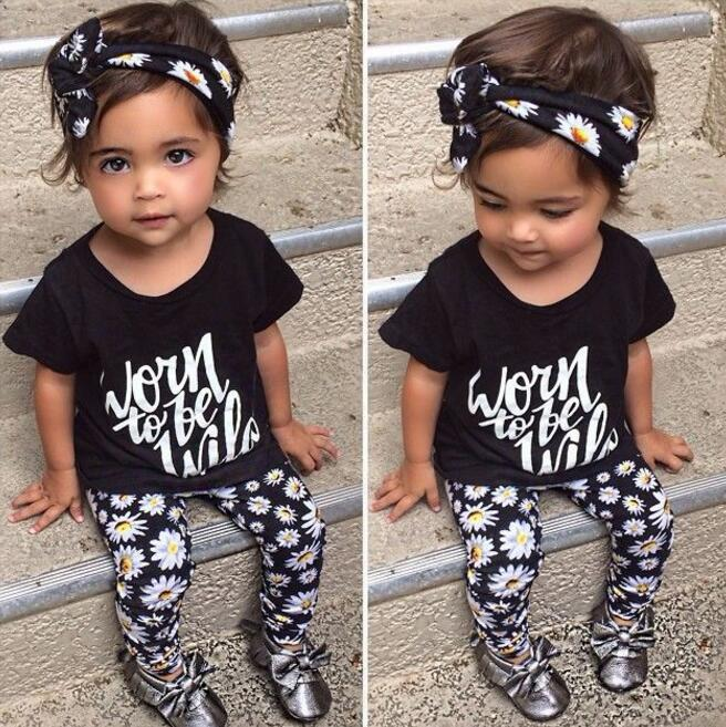 Baby clothes outfit kid trendy clothing three piece set ...